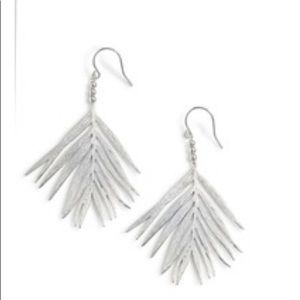 Gorjana Palm Drop Earrings Silver